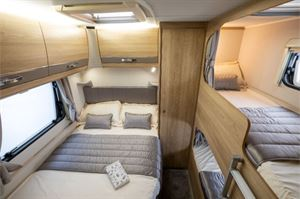 Double bed and bunks