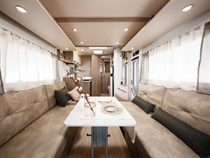 Benimar Tessoro 487 has a open plan layout