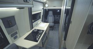 The kitchen in the RP Rebel Overlander