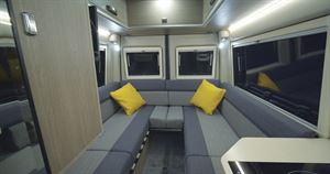 Living area seating in the RP Rebel Overlander