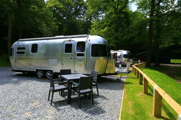 Airstream caravans on site