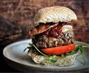 Magnificent bacon brie burger (photo courtesy of Campingaz)