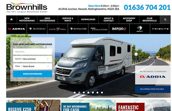 Leading motorhome dealer Brownhills records 26% boost in sales this year