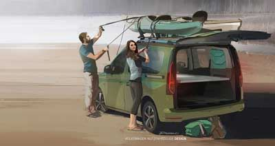 Artist's impression of the new Caddy campervan