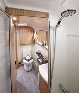 The full caravan toilet view