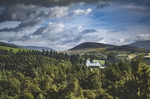 Blair Castle amid stunning scenery