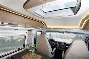 The interior of the Malibu 600 DB Charming Coupe motorhome