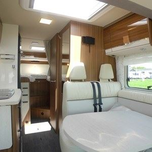 A look through the motorhome, through to the rear bedroom - picture courtesy of Geoff Cox Leisure