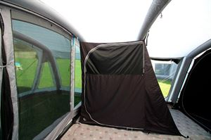 The extra bedroom in the Berghaus Telstar 8 tent
