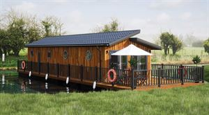 The holiday homes sit on their own private pontoon