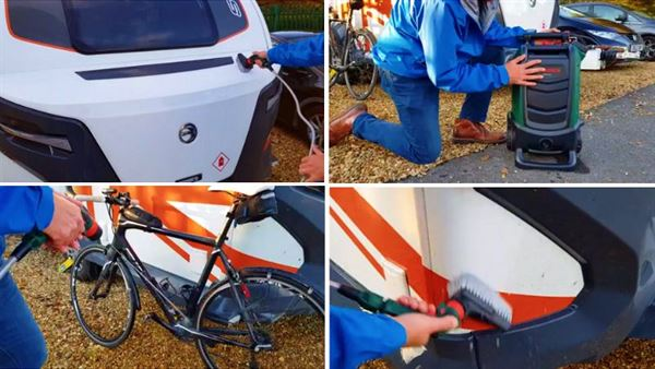Using a Bosch Fontus Cordless Pressure Washer for washing your