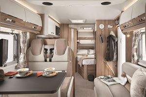 French bed motorhome layout
