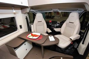 The front lounge in the new Burstner City Car Harmony Line C 603 campervan