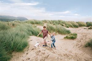 The sand dunes near Garreg Goch