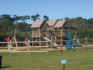 The children's play area will keep the kids entertained