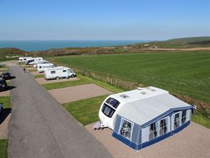 Spacious, hardstanding pitches are available