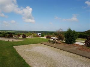 Fantastic views over Cornish countryside from Carvynick