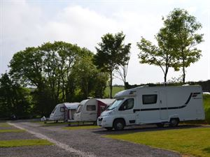 Widdicombe Farm's pitches are ideal for motorhomes