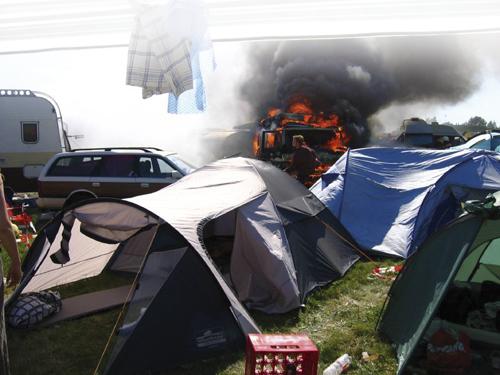 tent fire