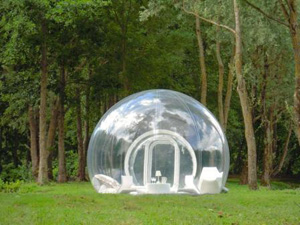 The Bubbletree is the creation of French designer Pierre Stephan Dumas and the transparent tents can be hired at sites across France for £400 a night. & Top 10 weird and wonderful tents! - Out and About Live