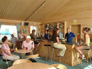 The bar is pine clad and welcoming