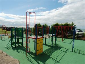 The play area will please kids and the beach is only a short walk away