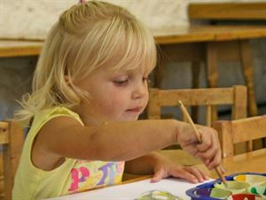 The on-site craft centre is the perfect place for children to be creative