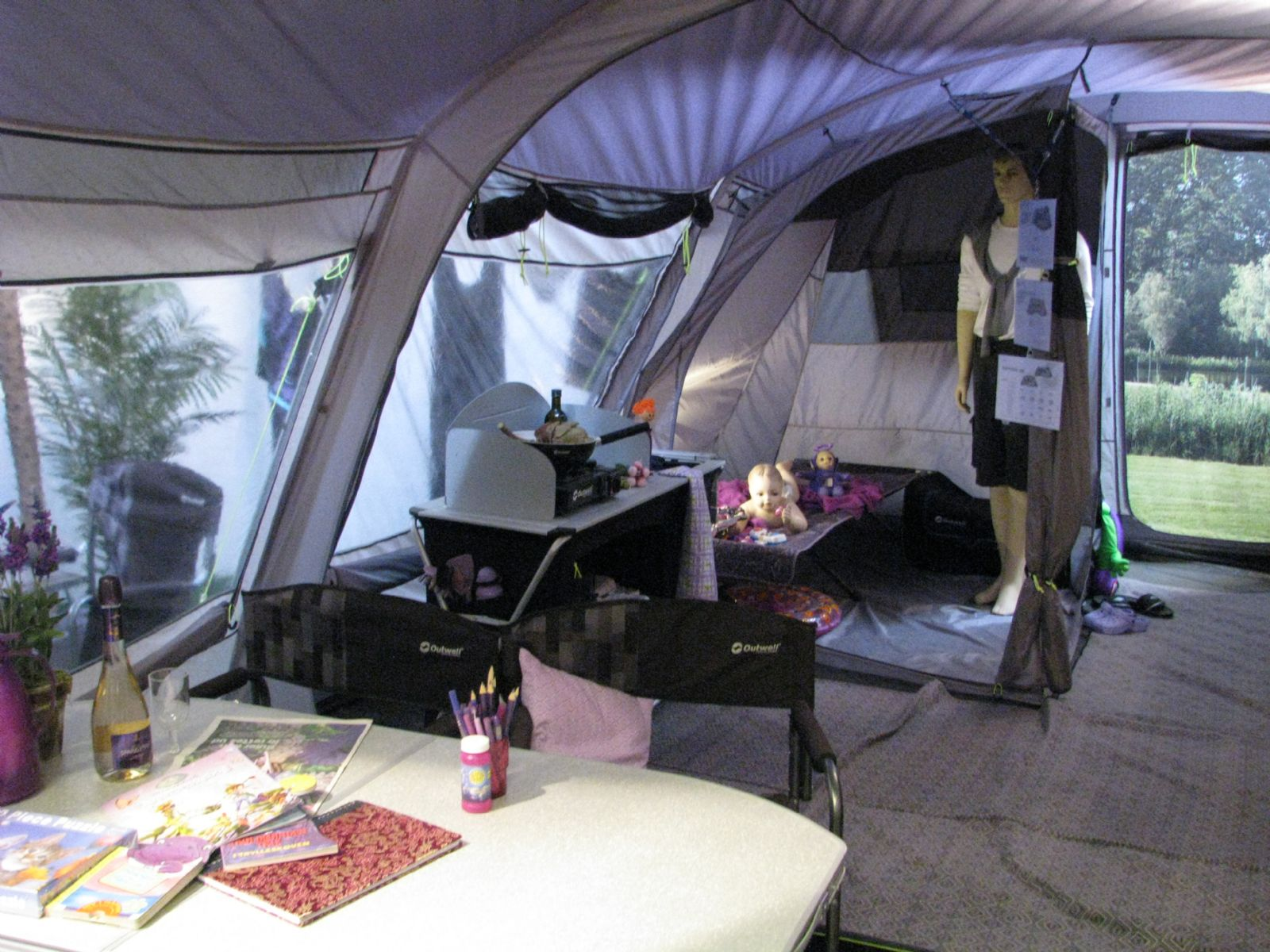 A huge family tent that is big enough to accommodate seven c&ers. Thereu0027s three bedrooms and the set-up is a bit different with two rooms at the rear ... & Outwell 2015 Tents - Out and About Live