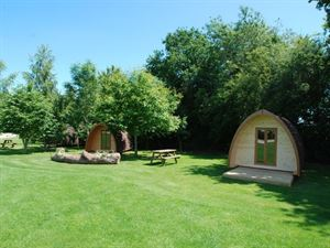 If you fancy camping but without the tent, try a log pod