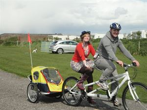Cyclists and families will love the campsite's location