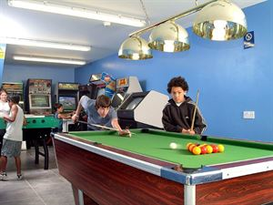 The games room provides entertainment for children