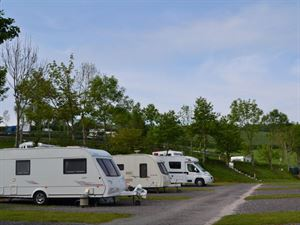 The campsite is terraced so there are nice countryside views