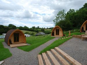 Camping pods are available at Whitehill too