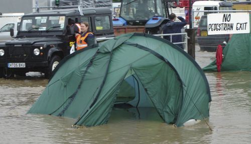 A flooded tent can ruin your possesions inside