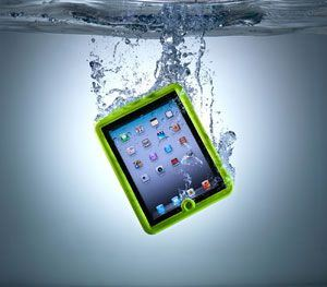 An iPad in a Lifedge case can be immersed in one metre of water for 30 minutes