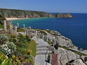 Minack open air theatre is near the campsite