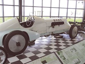 Babs could top 170mph in 1927 and can be found in Pendine Sands Museum