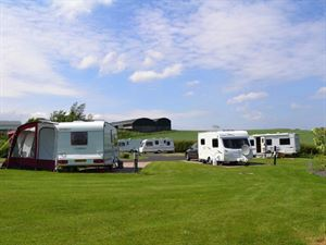The campsite offers plenty of grassed areas