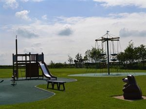 Children can burn off energy in the playground