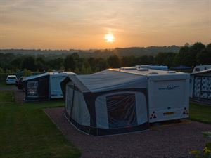 Enjoy stunning sunsets from your pitch at Bingham