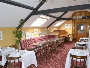 Upstairs in the main building is home to the restaurant