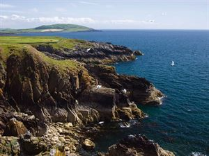 Wonderful rocky headland is close to the on-site golf course