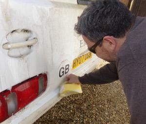 Caravan cleaning sponge