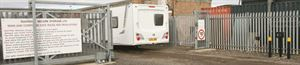 Caravan storage security