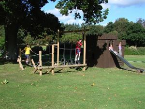 Outdoor play area will burn off the kid's energy