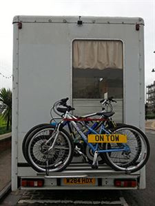 Carrying bikes on the back