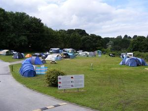 Tent field offers open grass pitches