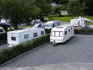 Generously sized hardstanding pitches for all weather use