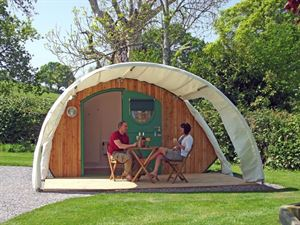 Camping cabins are a fashionable option