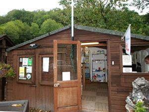 Campsite has a small shop and information area